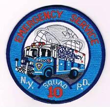 NUEVA YORK POLICE EMERGENCY SERVICE TRUCK SQUAD 10 POLICIA
