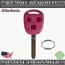 New Pink Remote Key Replacement Case Shell For Toyota FJ Cruiser & Land Cruiser