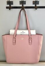 Kate Spade Jackson Street Denise Leather Shoulder Bag Tote Rosy Cheeks Pink NWT