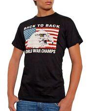 Eagle USA Flag Back To Back World War Champs Champions T-shirt S-3XL Black
