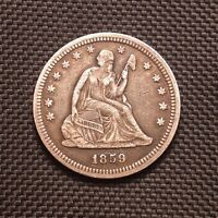 1859 P Seated Liberty Quarter - Extremely Fine XF EF