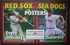 "2008 Red Sox & Sea Dogs Portland Press Herald 11x17"" Ad Sign - Justin Masterson"