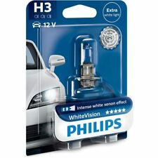 PHILIPS H3 WhiteVision 12336WHVB1 PK22s Halogen Headlight Bulb 3700 K Single