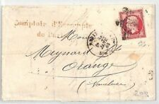 Bl199 1866 France Paris Ceres 80c Rate Cover Orange {samwells}Pts