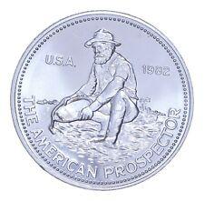 1982 Engelhard American Prospector Silver Round 1 Troy Oz .999 Fine *884