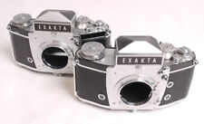 Exakta VX IIa Pair - Bodies Only - One Very Nice and One Very Good