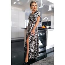 Leopard Print Maxi Dress One Size (8-12)