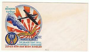 "US WWII Patriotic-Unused Fluegel cover--""The Bombing of Tokyo"""