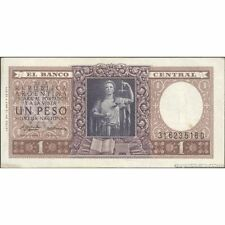 TWN - ARGENTINA 263b - 1 Peso 1951 aVF - Serie D - Sign. Real & Alizon Garcia