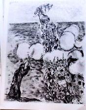 Marc Chagall offset lithograph Bible  paris maeght 1960 original  2 sided 145