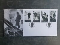 GIBRALTAR 2015 CHURCHILL 50th ANNIV DEATH SET 4 STAMPS FDC FIRST DAY COVER