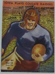 Colgate Raiders vs Iowa Hawkeyes Official FB Program 10/12/1935  Dads Day