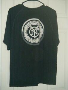 New York City FC Adidas  NYCFC MLS Soccer Black Top Men's Small Used