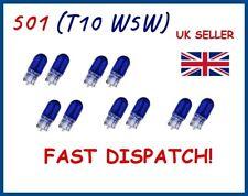 10 x 501 T10 W5W FRONT HALOGEN CAR LIGHT BULBS BLUE SIDE PARKING LAMP / INTERIOR