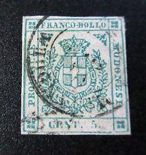 ANTICHI STATI Modena 1859 5 cent Mirandola cat 3.100 euro