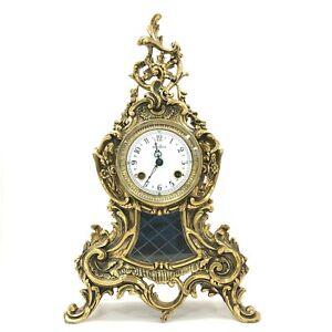 Mappin & Webb Mantel Clock Brass Rococo Style Franz Hermle Mechanism 173089