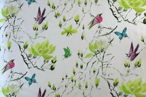 DESIGNERS GUILD CURTAIN FABRIC Madame Butterfly II 2 METRES ACACIA 100% COTTON