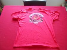 CHICAGO BLACKHAWKS NHL RED T-Shirt ADULT LARGE 100% COTTON FREE SHIPPING