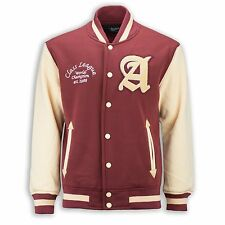 New Men Fleece Varsity Jacket Class League Red Tan 1988 Champion ALL SIZES