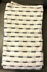 Project 62 Fabric Shower Curtain White Gray Woven Dash Textures Striped Neutral