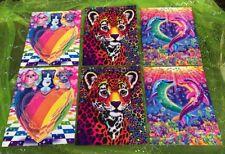 6 Lisa Frank Dogs Cat Dolphins Hunter Folders Glitz 3 Holes Assorted Portfolios