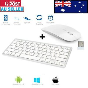 Wireless Keyboard Bluetooth and optical USB Mouse For PC LAPTOP MAC TABLET