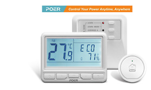 Poer Smart Heating Thermostat Combi Gas Boiler Wireless Programmable DIY Install