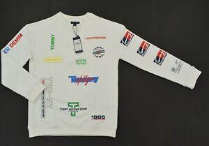 NWT Boy's Tommy Hilfiger Crew Neck Sweater Sweatshirt White