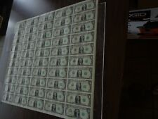 50 UNCUT SHEET $ 1 ($1 X 50) Legal USA 1 DOLLAR*Real Currency NOTES* RARE BILLS