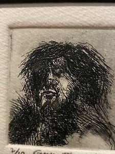 1976 Smith Goya II Vtg Mid Century Modern Art Etching Print Mystery Artist Old