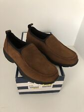 Lands End slip on MOC Cognac brown NEW 8 M with box