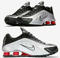 NEW Nike Shox R4 Men's sz 10 Running Silver Black Running OG BV1111-008 Sneakers