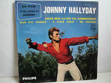 Johnny Hallyday EP From the Film D'Ou Viens tu Johnny French Philips