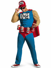 Duffman Classic Muscle The Simpsons Duff Beer Cartoon Men Costume XL