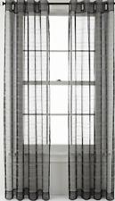 "NEW Studio JCP Home Echo Textured Stripe Grommet Curtain Panel Carbon 50""X108"""