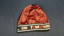 Vintage Tommy Gear Skullcap Beanie Bright Burgundy Silky Sheen Hip Hop NEW