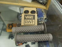 CULT BIKES ODI VANS FLANGED WAFFLE PATTERN GREY BMX BICYCLE SCOOTER GRIPS