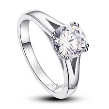 Wedding Solitaire Round Sterling Silver Fine Rings