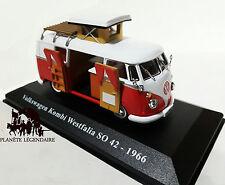 Miniature IXO CAMPING CAR VOLKSWAGEN KOMBI WESTFALIA SO 42 vw 1966 NEUF