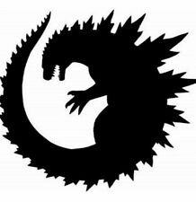 Vinyl Decal Car Sticker- Kaiju Monster Round Godzilla *Pick Size and Color*