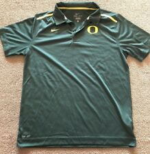Nike Oregon Ducks Basketball Team Issued Polo Collared Shirt Green Dri-Fit L