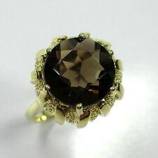 99 - Attraktiver Ring aus Gelbgold 585 mit Rauchquarz -1652-