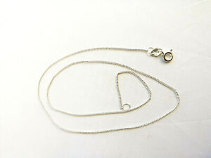 Sterling silver fine curb chain necklace 16 inches 1mm 1.3g
