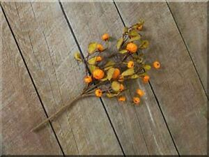 Artificial Floral Pick Faux Mini Pumpkins Primitive Fall Halloween Decor 16 inch