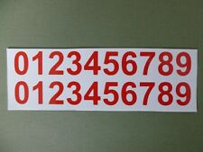 10 SETS 0-9 X-SMALL 2cm VINYL NUMBER STICKERS RED, HOME, BIKE, CRAFT, WORKSHOP