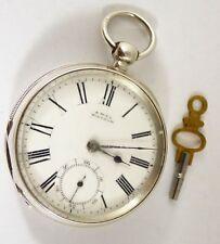 Antique 1886 Hallmarked Sterling Silver Waltham Pocket Watch Parts Restoration