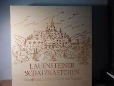 LAUENSTEINER SCHATZKASTCHEN--large wooden candy box. -- 8x8x11/2 inches