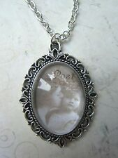 Vintage Silver Plated Victorian Mother Daughter Cameo Necklace New in Gift Bag