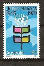 Australia # 490 Mlh 25th Anniversary United Nations