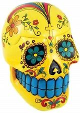 Yellow Day of the Dead Skull Box ~ Wicca Pagan Magick Halloween